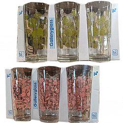 """Набір склянок 6шт * 200мл """" квітковий блюз"""""""