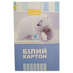 Картон белый А4 8листов Обухов тонкий