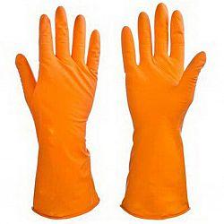 Перчатки резиновые оранжевые S