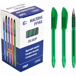"""Ручка масляная CR 503P """"С"""" зеленая"""