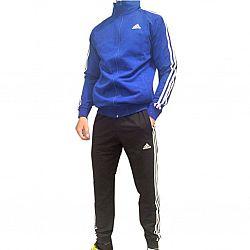 100 Костюм мужской adidas с полосками СИНИЙ ворот (S.M.L.XL.2XL) (5шт в ростовке)
