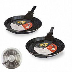Сковородка блинная с мраморным антипригарным покрытием Hi-Tech 22см