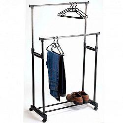 Вешалка для одежды двойная до 30кг DOUBLE SMALL CLOTH RACK(160*65*42см) ART-0175