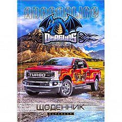 """Дневник школьный В5 твердая  ламинация(укр) """"Turbo Car"""""""