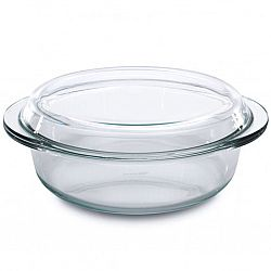 Кастрюля жаропрочное стекло с крышкой 1,5л МК-GL 415