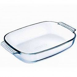 Форма для запекания прямоугольная с ручками жаропрочное стекло 2,9л МК-GL 229