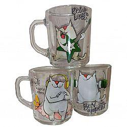 """Чашка """"Green Tea"""" 200мл """"Смешной кот"""""""