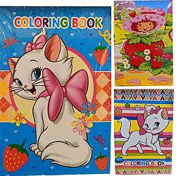 Раскраска с наклейками А5 микс для девочек 10стр. 60 наклеек