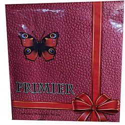 Серветка 33*33 два слоя красная насыщенный цвет 50л