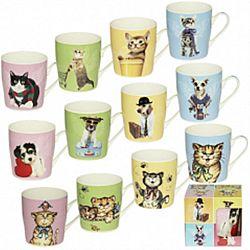 """Чашка фарфор """"Милые животные"""" в подарочной уп, 280мл"""