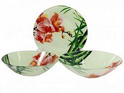 S 074 Сервиз столовый стекло 19пр Орхидея Pink