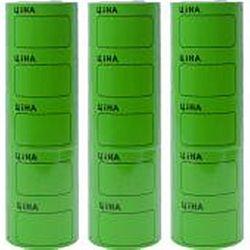Ценник большой c рамкой 3,5*5см Зеленый 100шт (5шт)