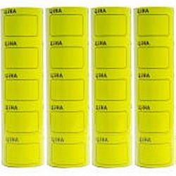 Ценник большой c рамкой 3,5*5см Желтый 100шт (5шт)