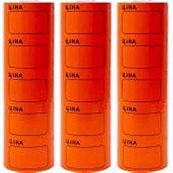 Ценник большой c рамкой 3,5*5см Оранжевый 100шт (5шт)