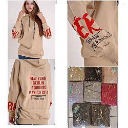 6065 Толстовка жен. с капюшеном New York/Berlin XL