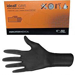Перчатки нитриловые черные Grip XXL (25пар)