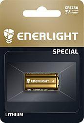 Батарейка ENERLIGHT LITHIUM CR 123A литиевая 1шт блистер