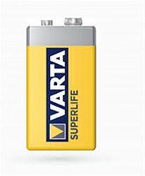 Батарейка VARTA 6F22(крона) солевые 1шт п/у