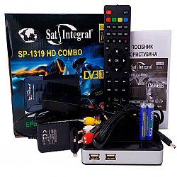 Т2 ресивер+спутниковый тюнер SP 1319 HD COMBO Sat Integral T2/S2