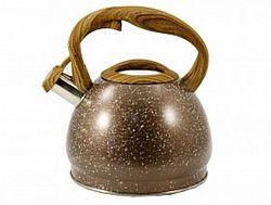 Чайник нерж. со свист.3,0л ZB-14/3 BROWN(коричн. ручка)