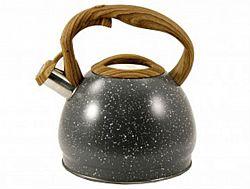 Чайник нерж. со свист.3,0л ZB-16/3 BLACK(коричн. ручка)