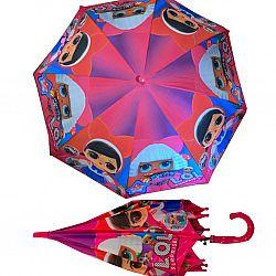 """F 102 Детский зонт для девочек """"LOL"""" Star Rain полуавтомат, 8 спиц"""