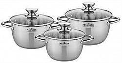 Набор посуды 6 пр (3каст 2,0л+-3,0л+4,0л 5сл.капсула, мерная шкала)MK-VS8506А