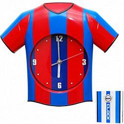 Часы настенные ДЕТСКИЕ Футбол (пластик) 33*28*5см
