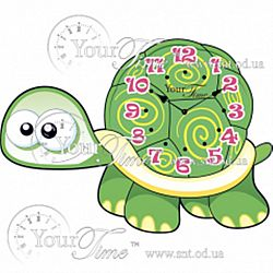 Часы настенные ДЕТСКИЕ Черепаха МДФ 24*34*4,5см