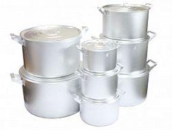 Набор алюминиевых цилиндр.кастрюль 8-пр.(2,5;3,5;4,5;6,0;8,0;10,0;15,0;;20л)