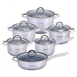 5634S Набор посуды 12пр(ковш 1,8л+кастрюли 1,8л+2,5л+3,8л+5,8л+сковородка мрамор 24см)