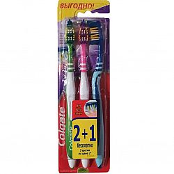 Зубная щетка  Colgate Zig Zag Plus средняя 2+1
