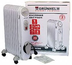 Обогреватель масляный Grunhelm GR-1125 2500Вт, 11секций