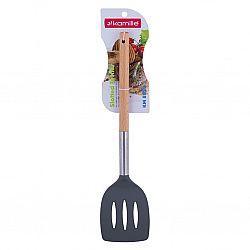 8850 Лопатка поварская с отверстиями нейлон+деревянные ручки 34см