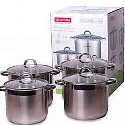 5802 Набор посуды 8пр (кастрюли 6,5л+8,0л+10,0л+12,5л)