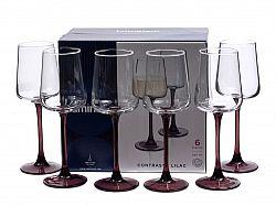 9603 Contrasto Lilac бокал для вина 250мл 6шт