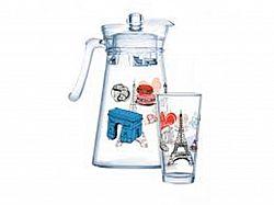 Набор/вода LUMINARC NEO LOVE PARIS FLORENO кувшин +6стаканов 270мл -7пр(рисунок)