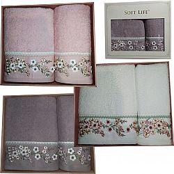 №5 Набор Полотенец (Баня+руки) махра Soft Life