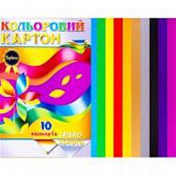 """Картон цветной А4 10 листов """"Septima"""" +золото/серебро"""