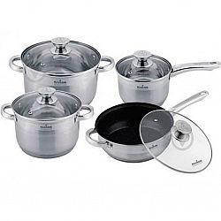 Набор посуды 8 пр (сковородка мрамор d-24+ковш1,5л +2 кастр.3,0л-5,0л) MK-3508B