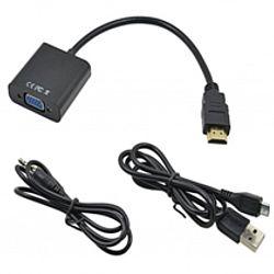 Переходник HDMI VGA со звуком и питанием