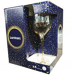 9306 LUMINARC SELEST HONEY GOLD Набор бокалов/вино 4шт*270мл