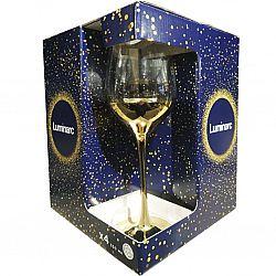 9155 LUMINARC SELEST GOLD ELECTRO Набор бокалов/вино 4шт*350мл