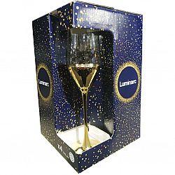 9301 LUMINARC SELEST GOLD ELECTRO Набор бокалов/шампанское 4шт*160мл