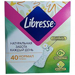 Прокл. ежедневки Libresse Natural Care Pantyliners Normal 40шт
