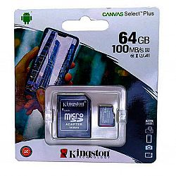 Карта памяти к телефону micro SDHC Kingston 64GB class 10(с адаптером),гарантия 1 год
