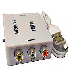 Переходник HDMI-AV RCA тюльпаны HDMI2AV,пластик