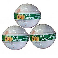 Сольова бомбочка для ванн Абрикос та олія м'яти