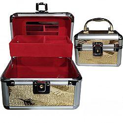 533 Шкатулка для бижутерии с полочками метл.
