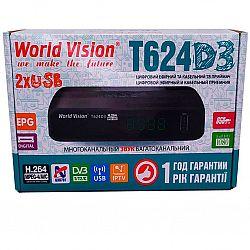 Т2 ресивер тюнер Т2 World Vision T624D3+IPTV